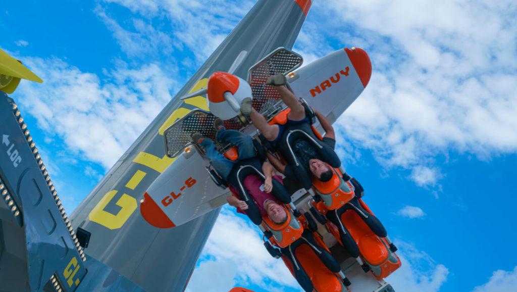 Vistors riding Air Racer at The Park at OWA