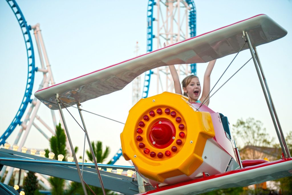 A child smiling from the Flying Aces