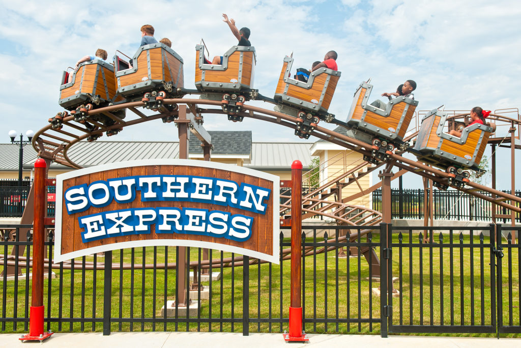 Riders waving from the Southern Express