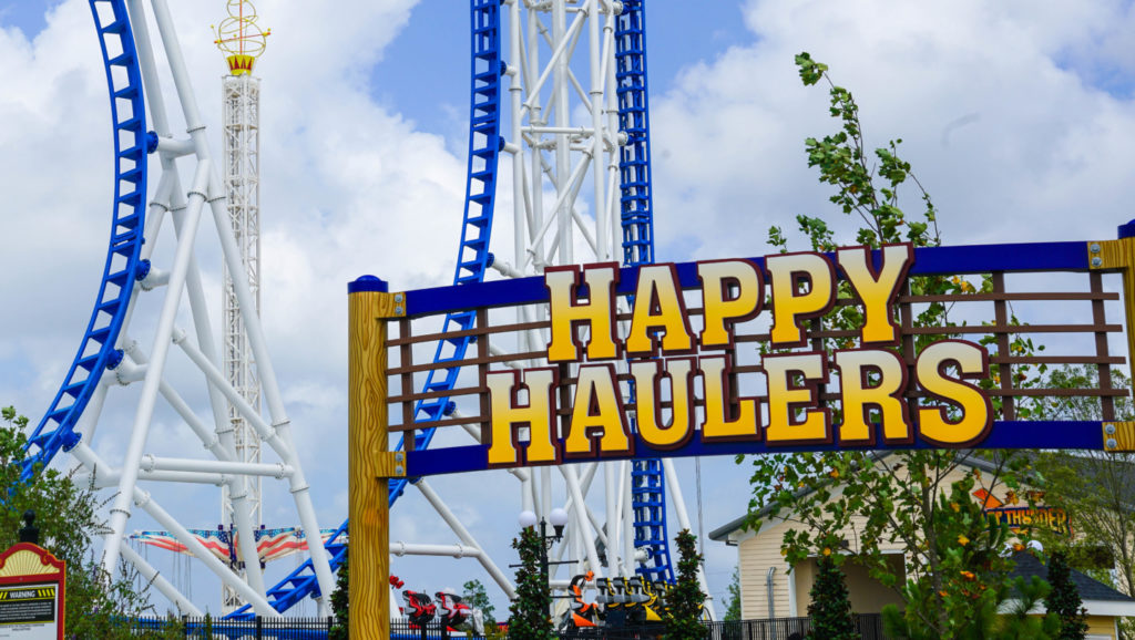 The Happy Haulers sign