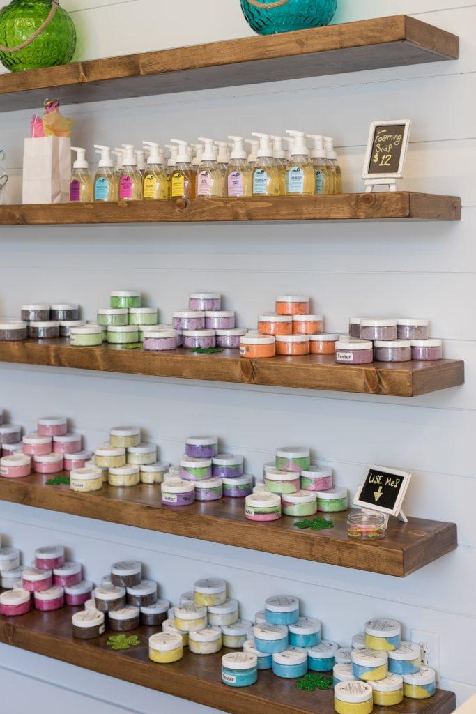 Shelves of soap