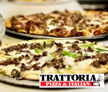 Pizzas from Trattoria Pizza & Italian