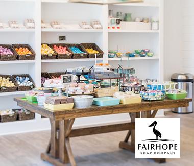 The interior of Fairhope Soap Company