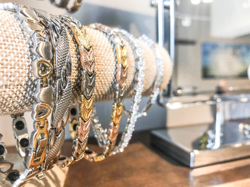 Bracelets on a stand