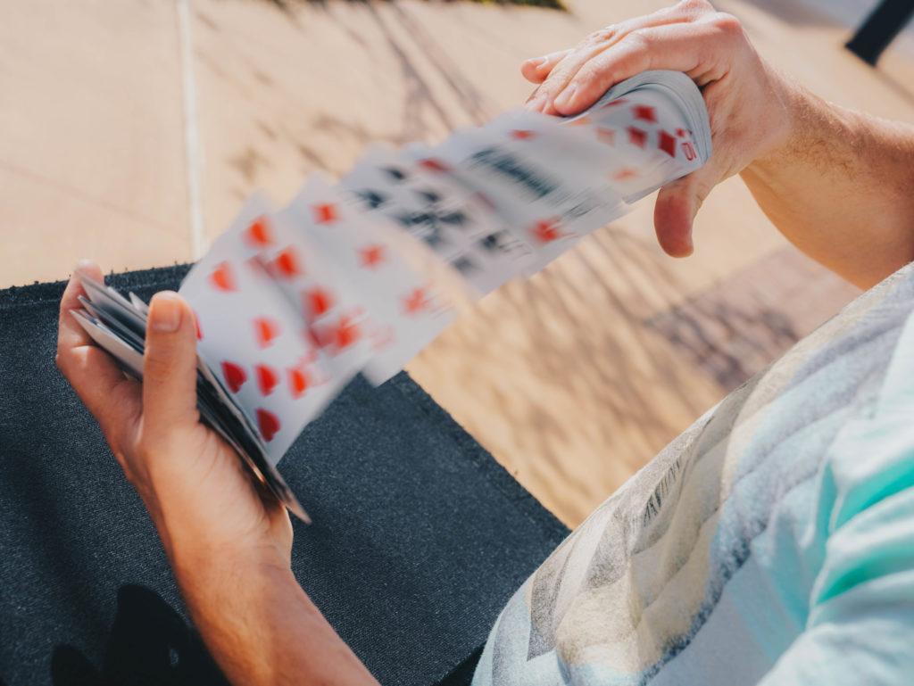 Brandon Styles shuffling cards