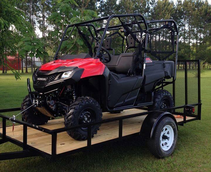All terrain vehicle on a trailer
