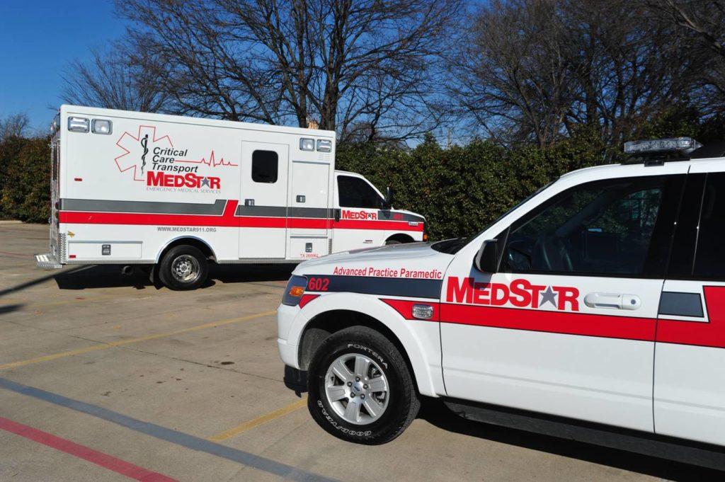 MedStar branded vehicles