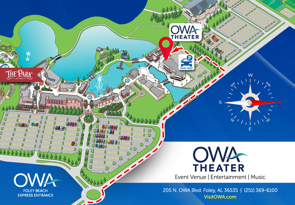 Map showing OWA Theater